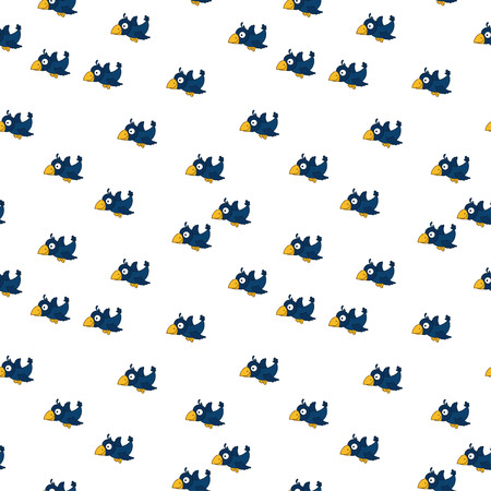Cute seamless pattern with cartoon crows. Good for textile, fabric, bed linen, childish bedroom, pajamas, pattern fills, wrapping paper, scrapbooking, decoupage, craft.