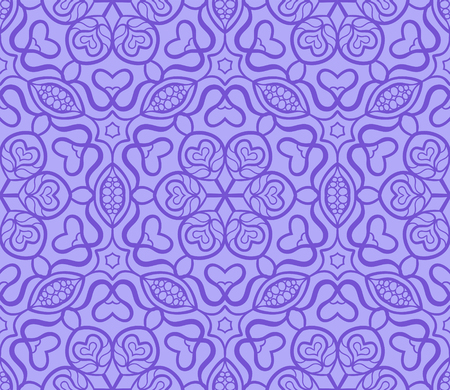 Seamless abstract violet pattern. Can be used for wallpaper, pattern fills, greeting cards, webpage backgrounds, wrapping paper, scrap booking and textile or fabric.  illustration. Illustration
