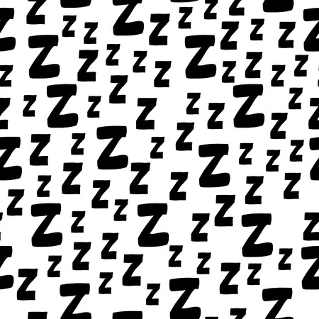 Seamless pattern with cartoon letters z. Can be used for wallpaper, pattern fills, greeting cards, webpage backgrounds, wrapping paper, scrap booking and textile or fabric.