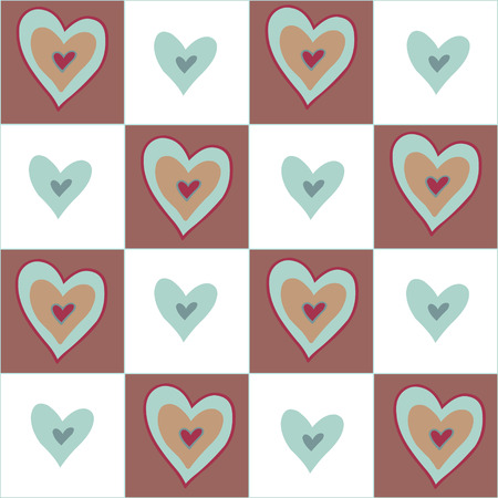 beguin: Beautiful seamless brown pattern with nice hearts. Can be used for wallpaper, pattern fills, greeting cards, webpage backgrounds, wrapping paper, scrap booking or fabric.