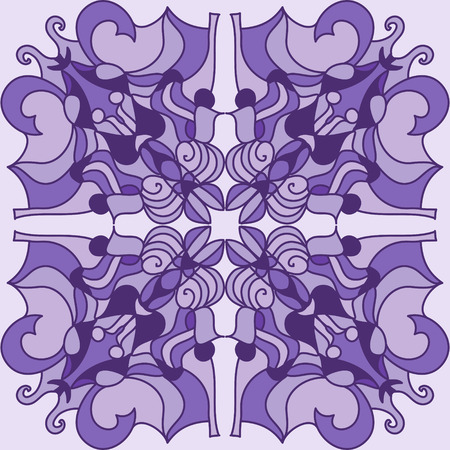 Beautiful  violet mandala