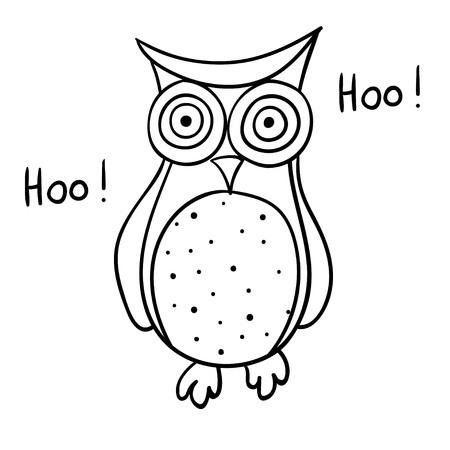 Cute cartoon of wise owl Illustration