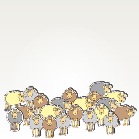 Seamless background with fun colored sheep. Can be used for wallpaper, pattern fills, greeting cards, webpage backgrounds, wrapping paper, scrap booking or fabric.