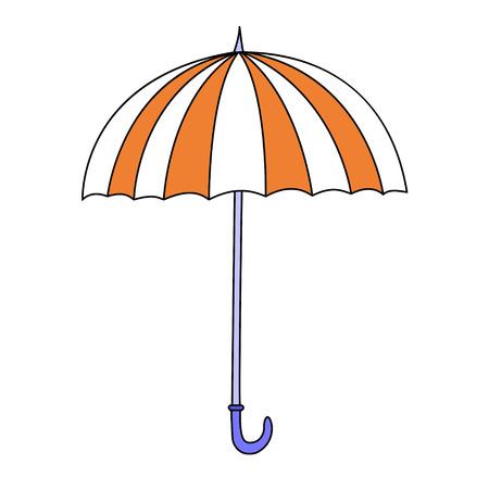 cartoon umbrella: Cute cartoon umbrella isolated on white background