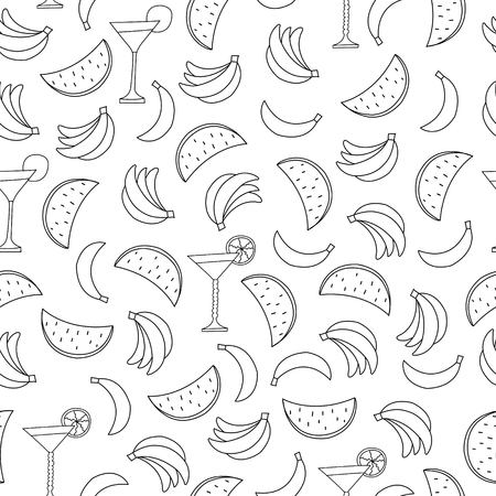 Seamless pattern with fruits on white background. Can be used for wallpaper, pattern fills, greeting cards, webpage backgrounds, wrapping paper, scrap booking and textile or fabric.