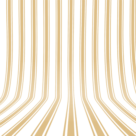 Vertical striped yellow background. 3d effect. Empty space. Vector illustration. Standard-Bild - 102581824