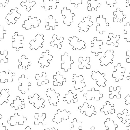 Seamless pattern with puzzles. Square vector illustration. Good for surface design, fabric, textile, wrapping paper and covers.