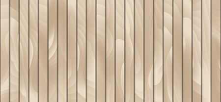 Horizontal wood timber texture, pattern, backdrop, background with light vertical boards.Gradient curves. Vector Ilustracja