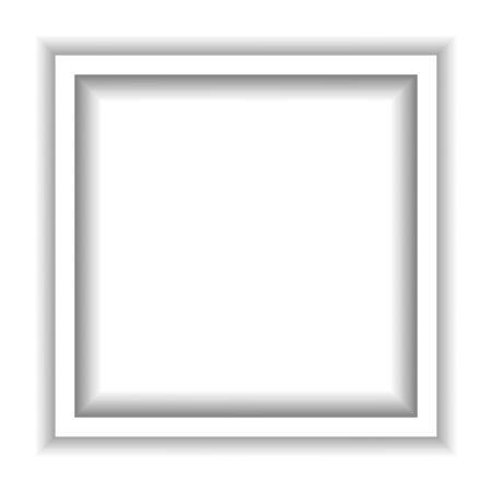 Circle white frame. Papercut 3d effect. Vector illustration