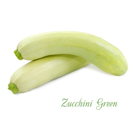 young zucchini isolated on white background