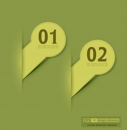 elements for web design on the green backgrpound Vector