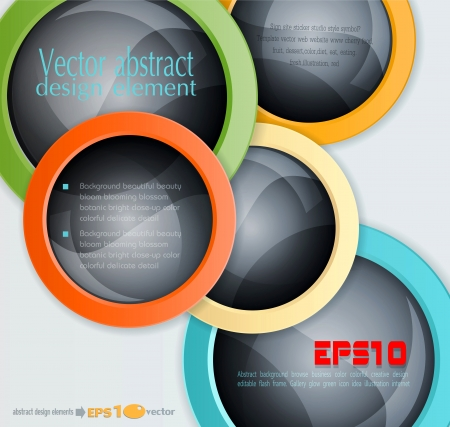 colorful abstract 3d balls  design elements