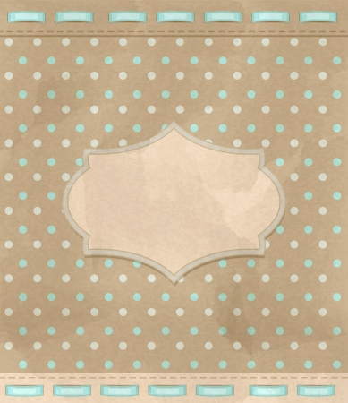 vintage greeting card Stock Vector - 15494981