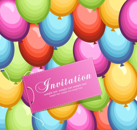 Festive vector background with colorful balloons Illustration