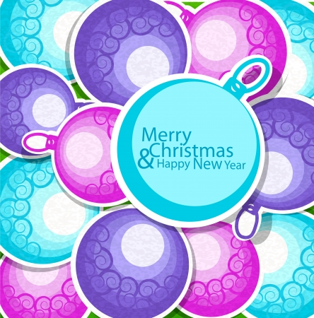 holiday Christmas background with balls Stock Vector - 15514022
