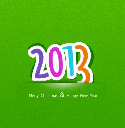 New Years background with the numbers 2013 Vector
