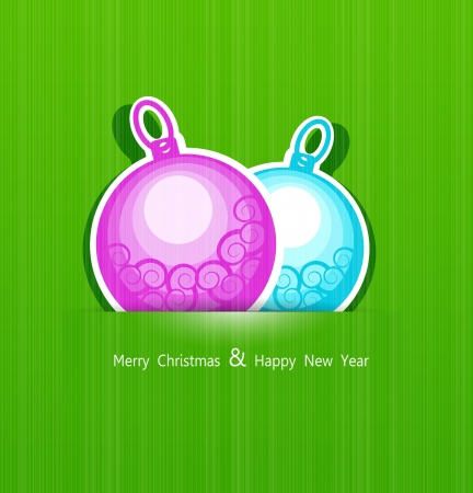 Festive Christmas background with balls Stock Vector - 15521957