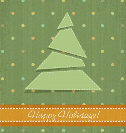 vintage Christmas background with Christmas fir