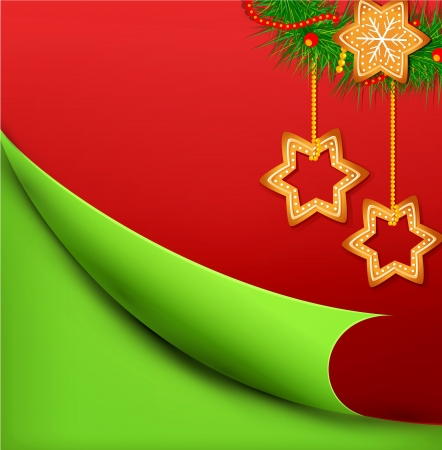 Christmas background with sweets Stock Vector - 15906717