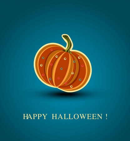 Vector background with a pumpkin Stock Vector - 16420549