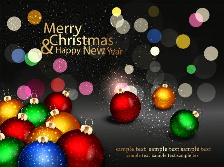 yıldız: Noel topları ile christmas background