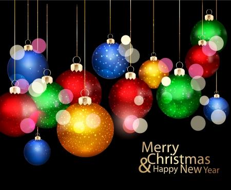 christmas background with Christmas balls Stock Vector - 16544157