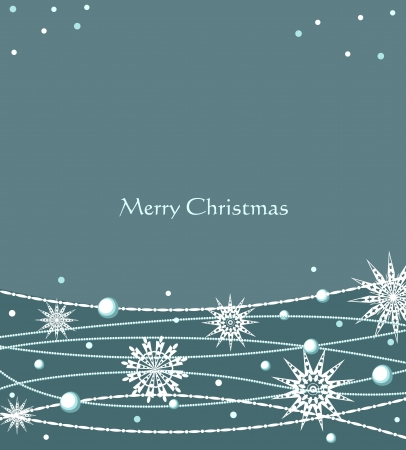 Vector Christmas festive background with snowflakes Vector