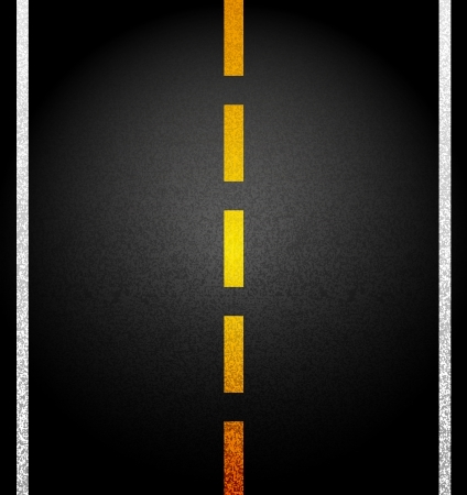 Asphalt road. Illustration