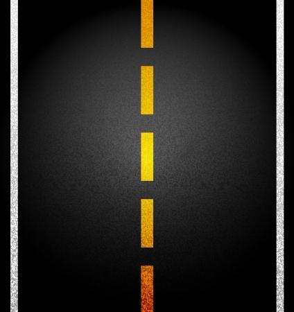 Asphalt road. Illustration