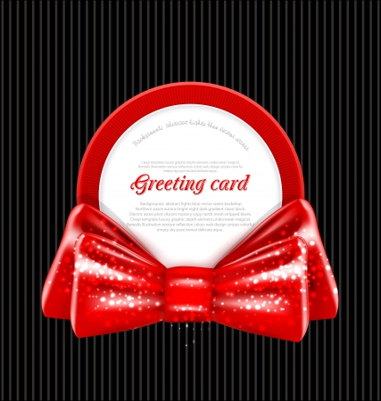 congratulation vector background in the form of a circle and a red bow