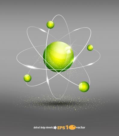 vector de fondo con el átomo Ilustración de vector