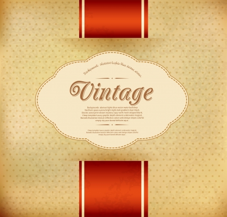 Vector vintage background with ribbon Stock Vector - 17991450