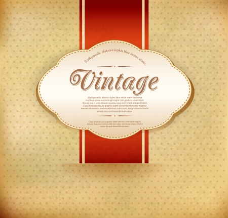 Vector vintage background with ribbon