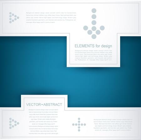 blue and white vector background  design element for business  Illustration