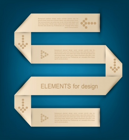Vector ribbon paper  design element for business