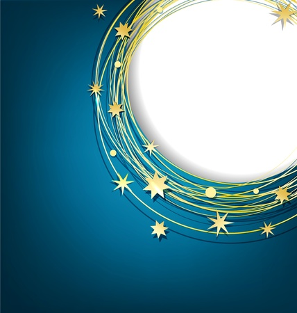 vector abstract background with gold stars