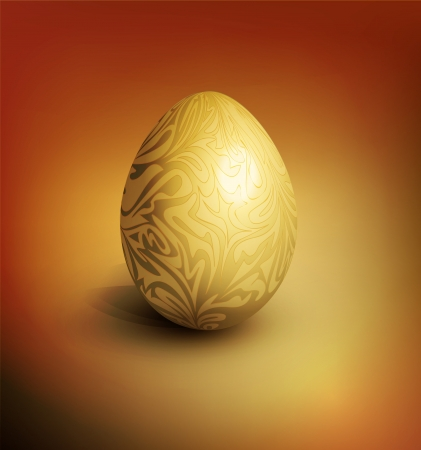 easter background with gold filigree egg