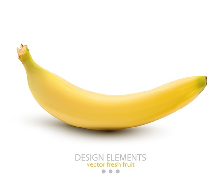 a banana on white background