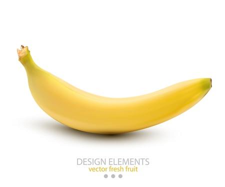 a banana on white background