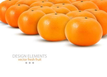 unpeeled: Mandarin isolated on white background