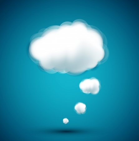 computer cloud on the blue background