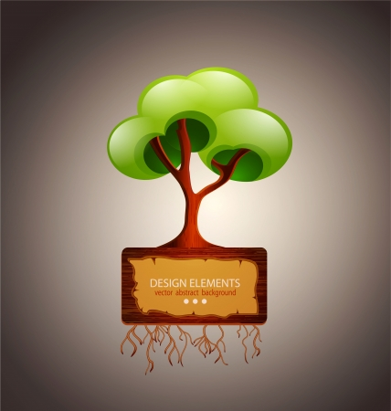 tree with space for text  design element