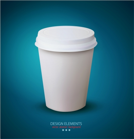 vector disposable paper cup