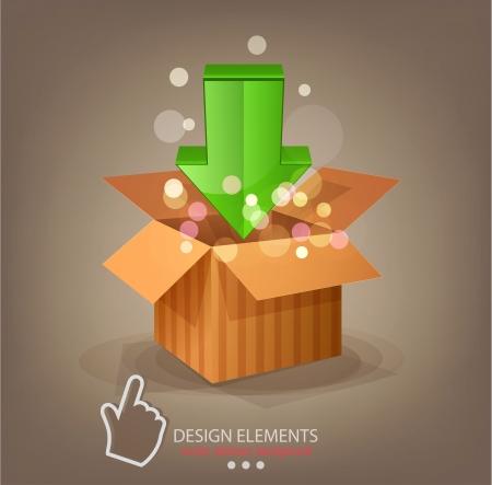 corrugated cardboard: vector icon download and cursor