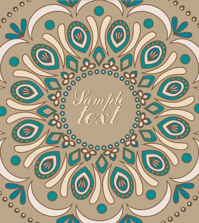 Vector Vintage background with oriental ornaments Illustration