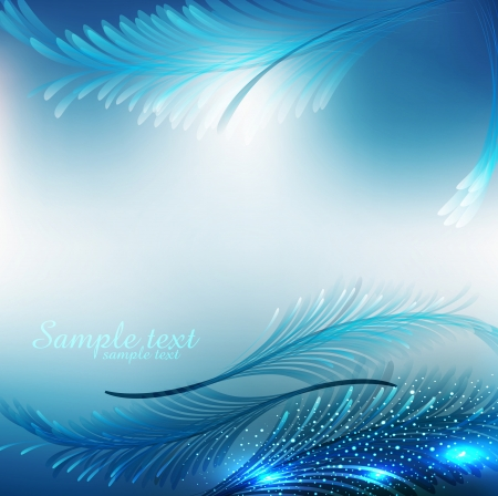 vector blue abstract festive background