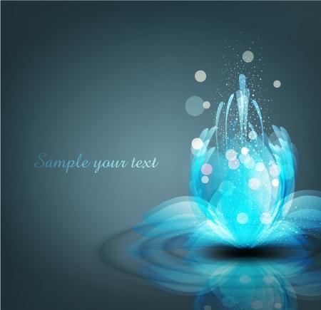Vektor-romantischen Hintergrund mit leuchtenden Lilien Standard-Bild - 20270368