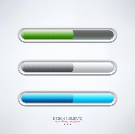 colorful set of progress bars
