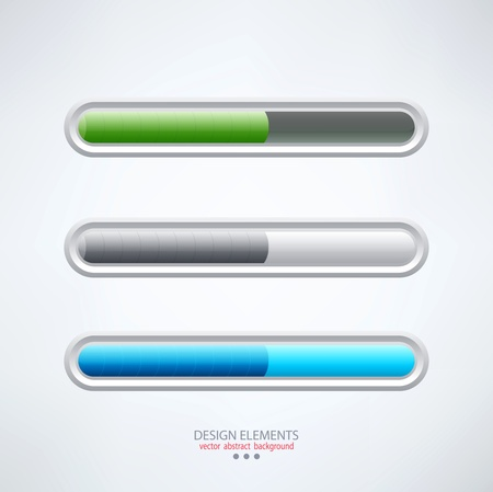 colorful set of progress bars