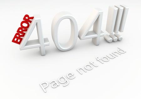 Written 404 error page not found